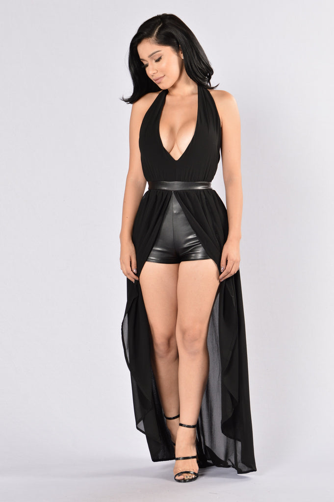 In The Name Of Love Romper- Black
