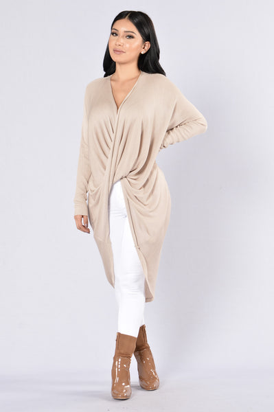 Girl Like You Sweater - Taupe