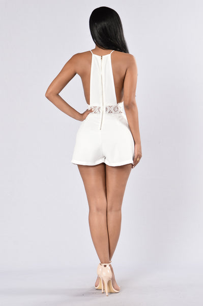 Dove-Like Romper - Off White