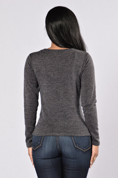 Highest Heaven Sweater - Charcoal