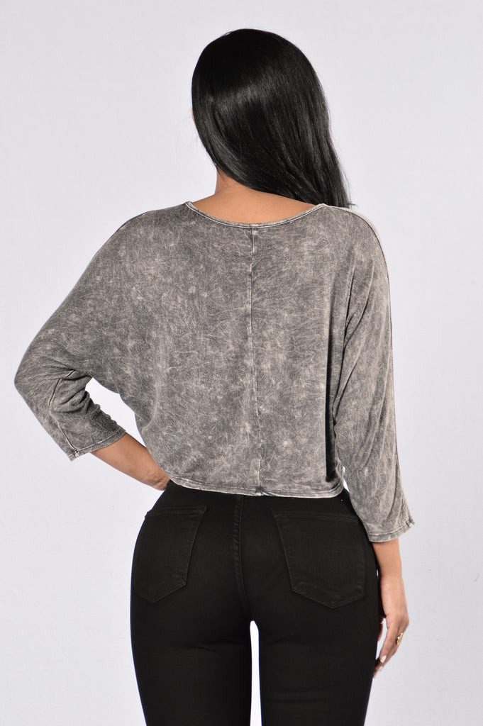 Road To Nowhere Top - Grey