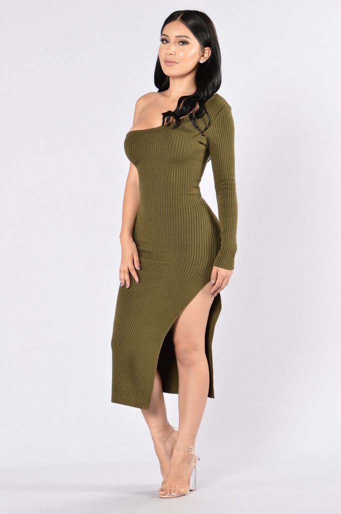 With The Flow Dress - Olive