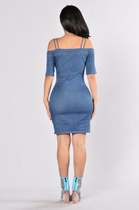 In the Zone Dress - Dark Wash