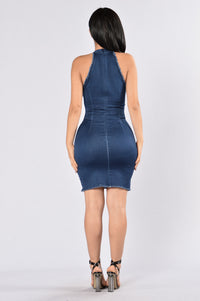 I Love Me Dress - Dark Wash