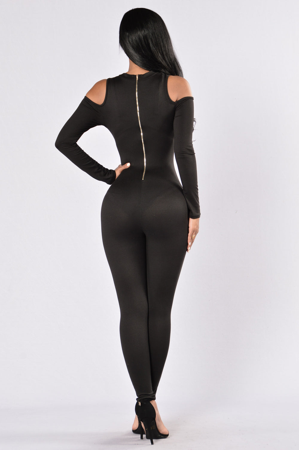 Wake In The Night Jumpsuit - Black