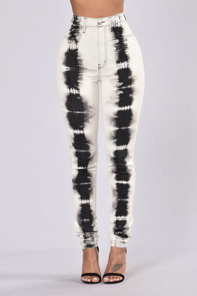 Into The Void Jeans- Black/White