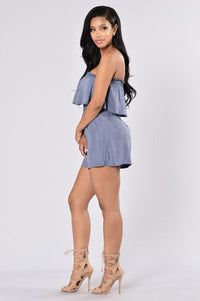 Breath Of Fresh Air Romper - Indigo Angle 6