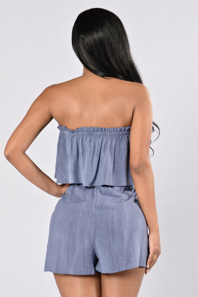 Breath Of Fresh Air Romper - Indigo