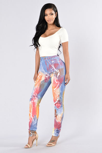 Somewhere Over The Rainbow Jeans- Multi