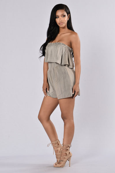 Breath Of Fresh Air Romper - Grey