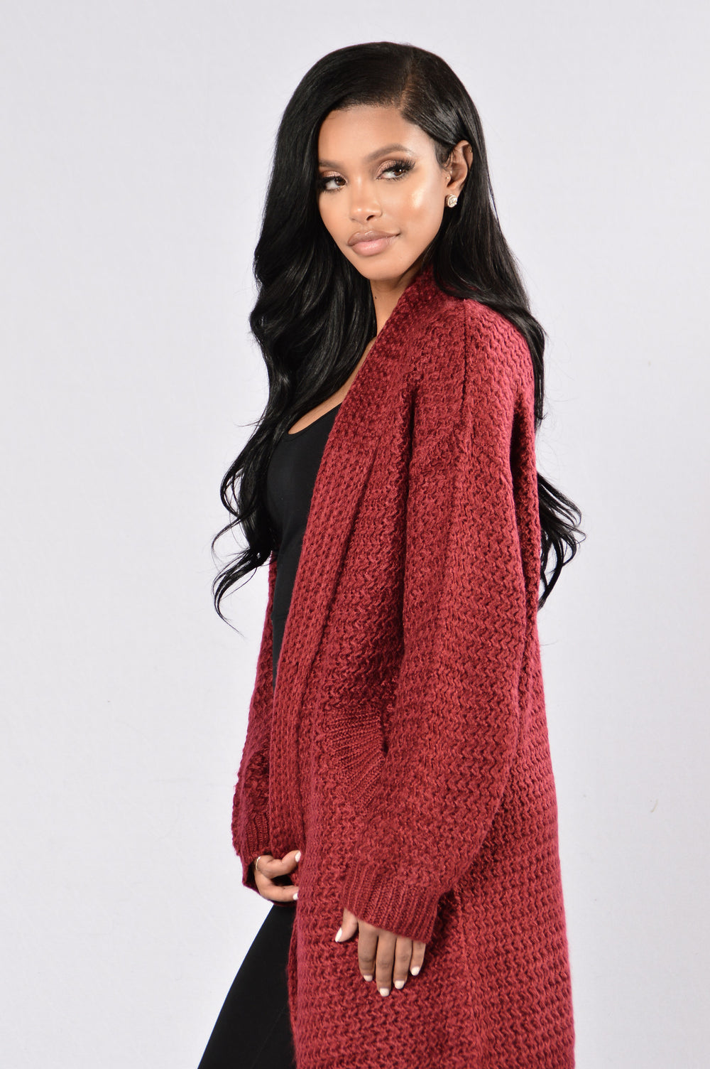 Get Over It Sweater - Burgundy