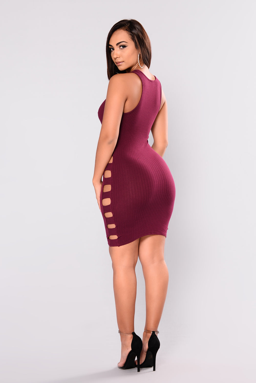 Liraz Cutout Dress - Wine