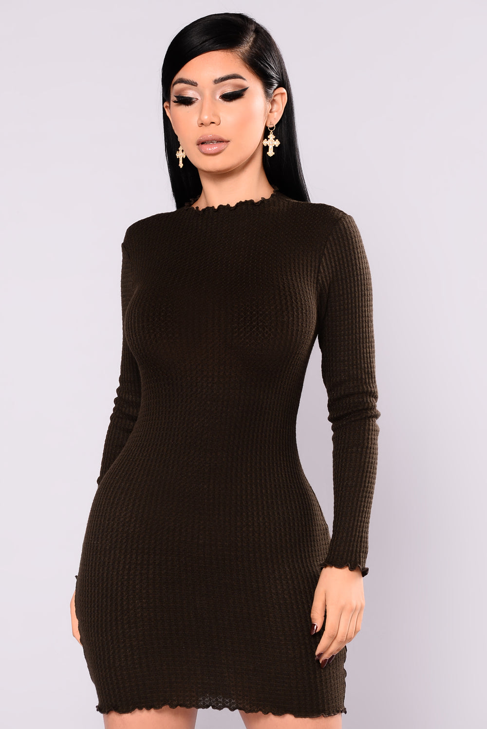 Feels So Good Knit Dress - Olive