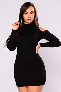 Sury Knit Dress - Black
