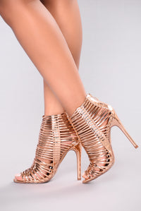 Anita Ankle Bootie - Rose Gold