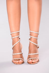 Yassi Jeweled Heel - Rose Gold Angle 2