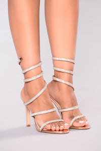Yassi Jeweled Heel - Rose Gold Angle 4