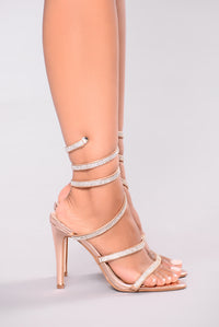 Yassi Jeweled Heel - Rose Gold Angle 5
