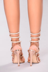 Yassi Jeweled Heel - Rose Gold Angle 6