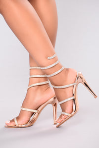 Yassi Jeweled Heel - Rose Gold Angle 1