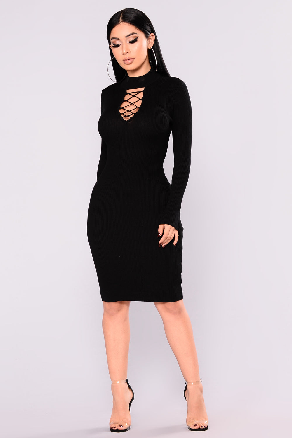 Mimi Sweater Dress - Black