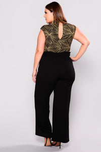 Off Duty Waist Tie Pants - Black