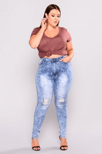 El Paso Distressed Jeans - Acid Wash