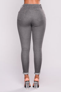 She Mighty Fine Booty Lifting Jeans - Grey