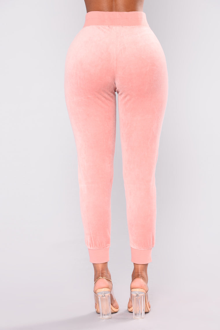 The Original Trendsetter Velour Pants - Mauve