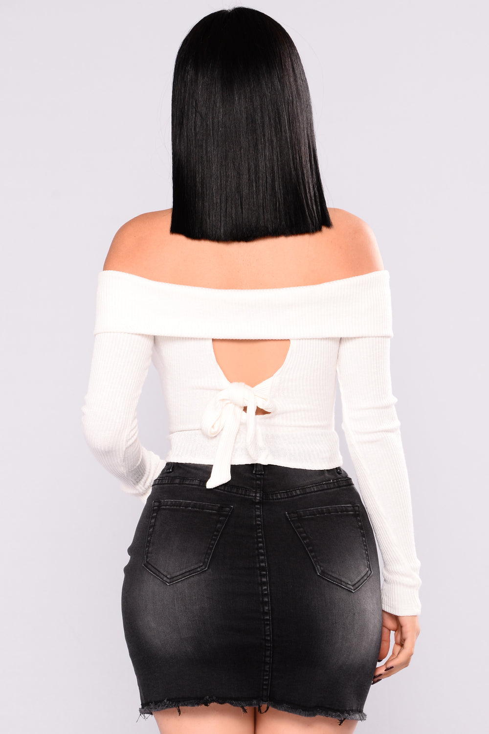Mixed Emotions Off Shoulder Top - Ivory