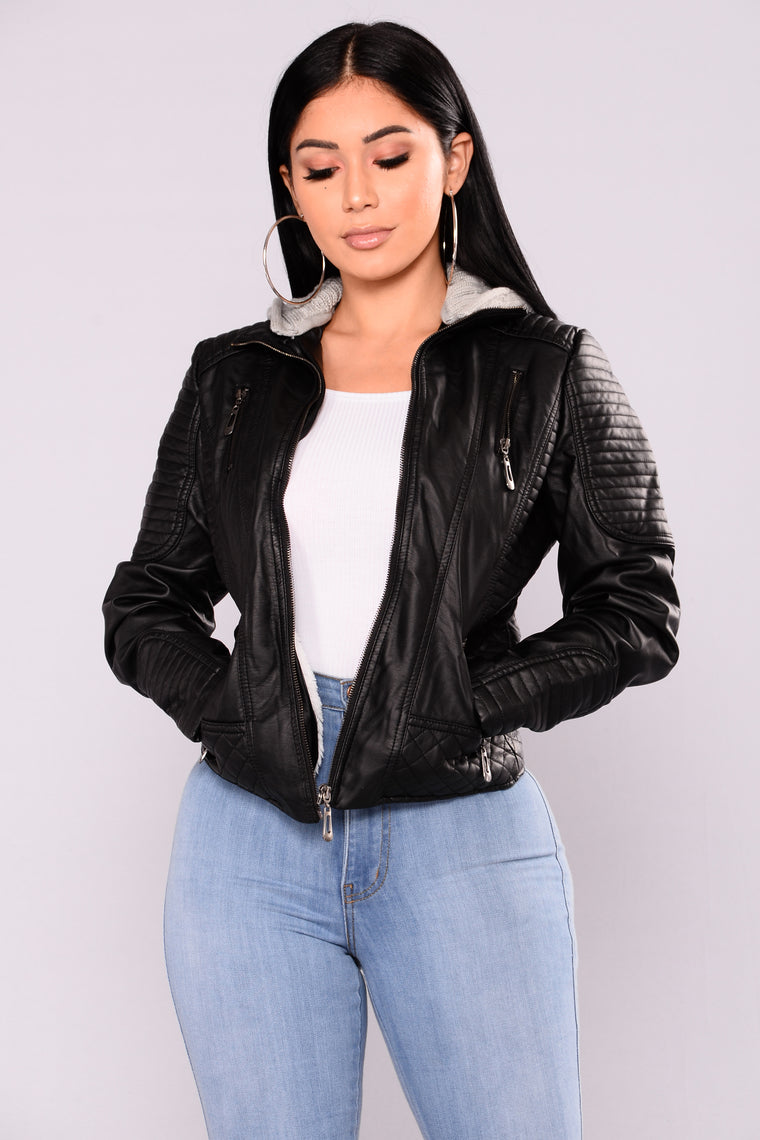 Janny Faux Fur Jacket - Black