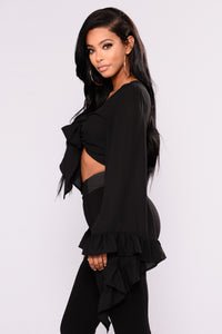 My Way Crop Top - Black