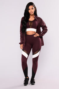 Graciela Active Jacket - Burgundy