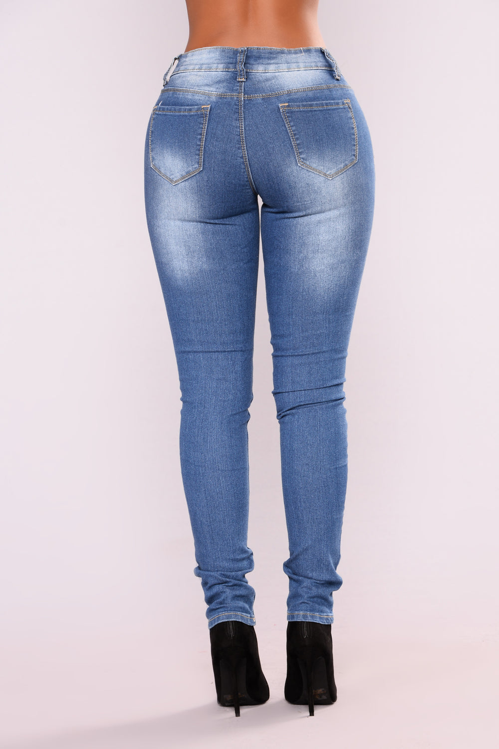 Candy Rain Skinny Jeans - Medium Blue Wash