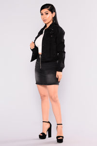 Stinger Denim Jacket - Black