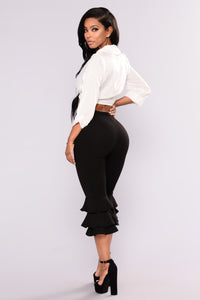 Margarita Ruffle Pants - Black Angle 5