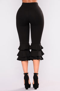 Margarita Ruffle Pants - Black Angle 3
