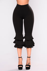 Margarita Ruffle Pants - Black Angle 2
