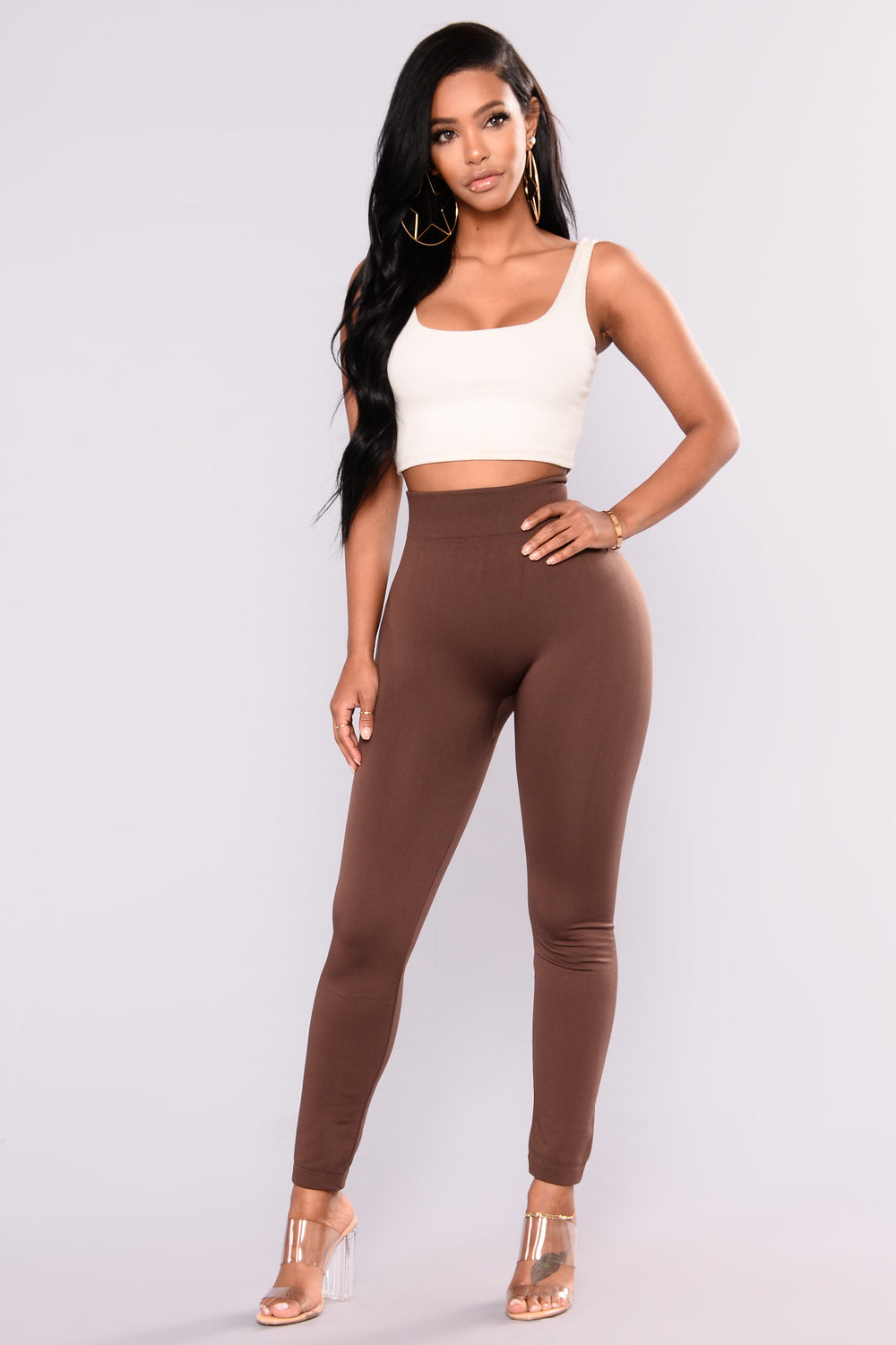 Yes Fleece II Leggings - Brown