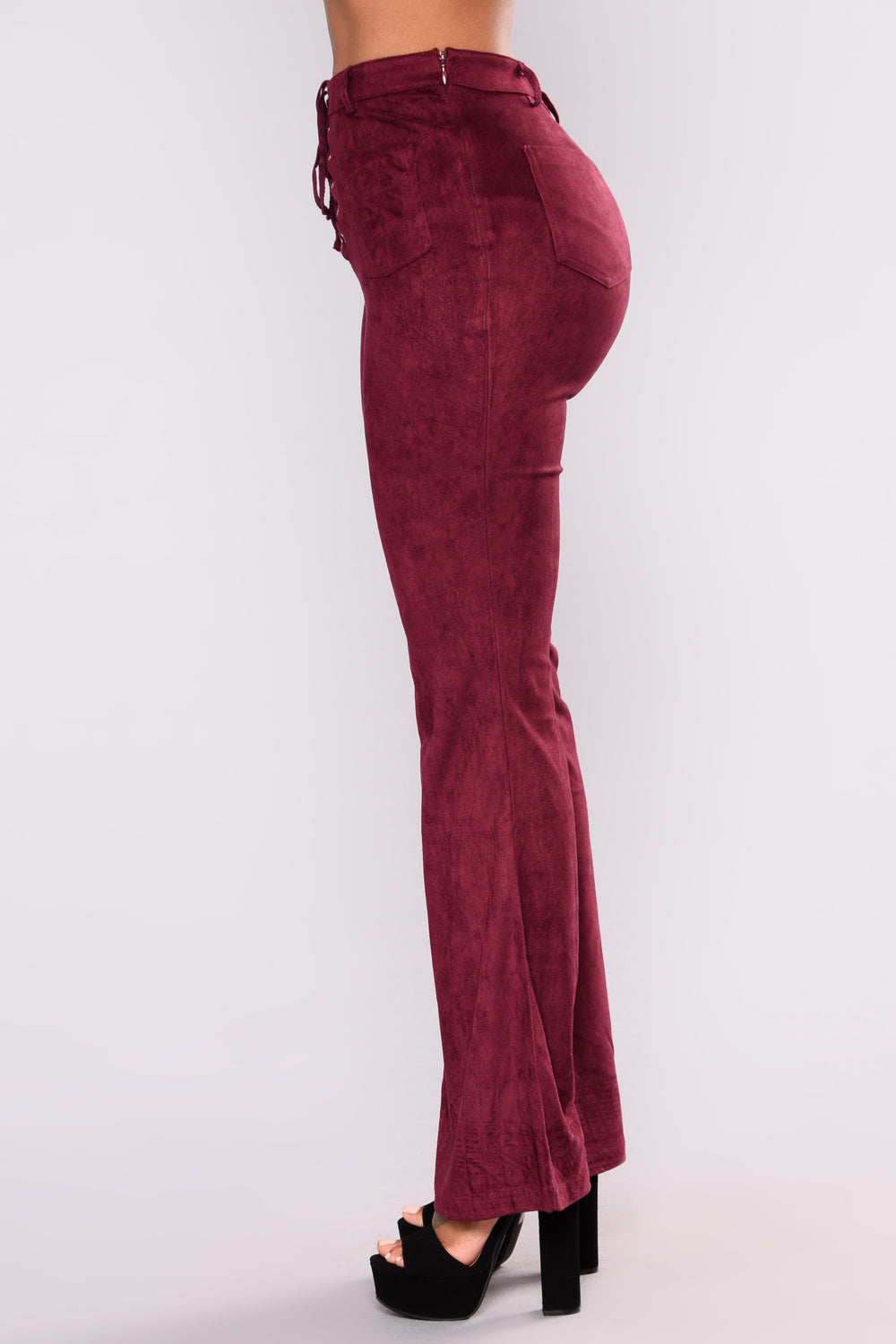 Martine Suede Pants - Wine