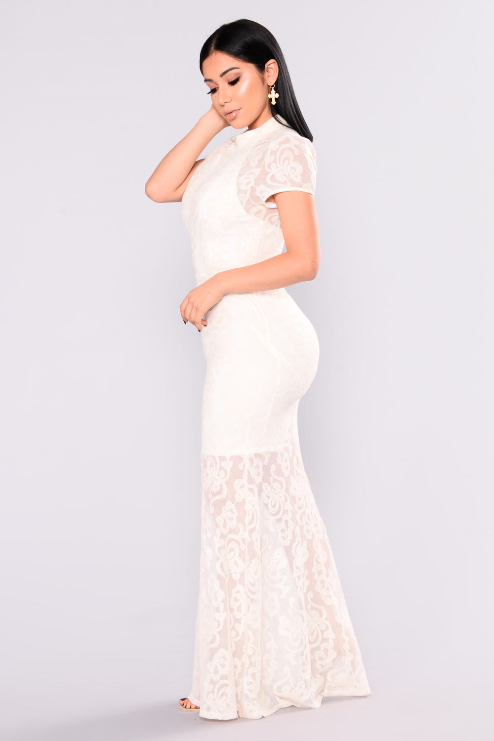 Home Grown Lace Dress - Ivory