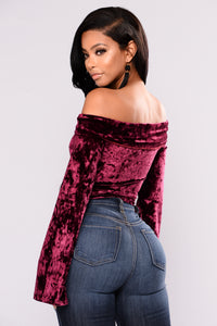 Make Your Move Bodysuit - Burgundy