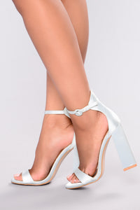 Violet Block Heel - Blue