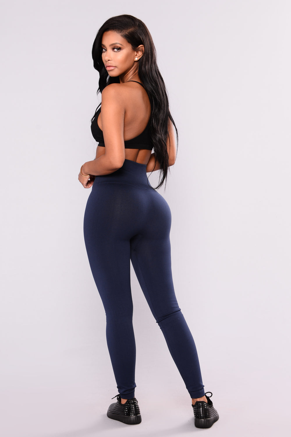 Sammi Fleece Lined Leggings - Navy