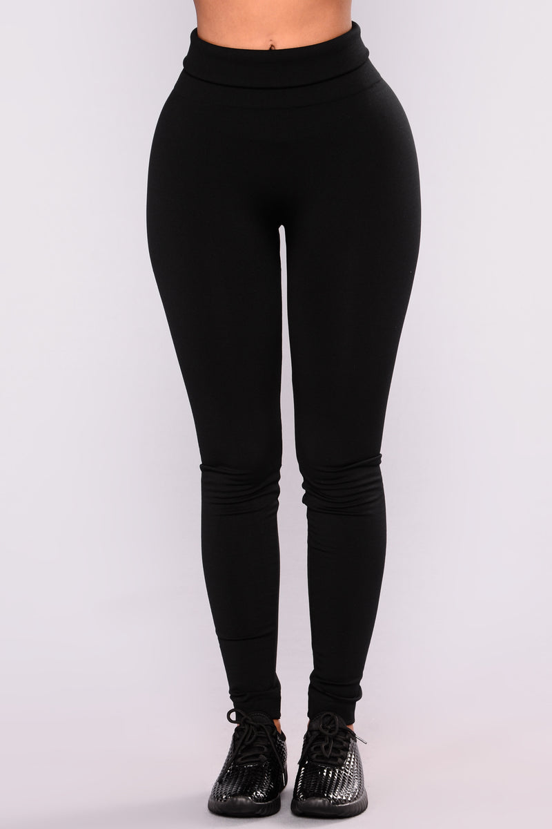 Sammi Fleece Lined Leggings - Black
