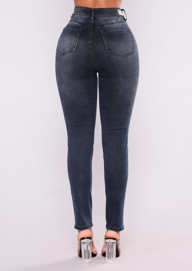 Be Without You Ankle Jeans - Dark Denim
