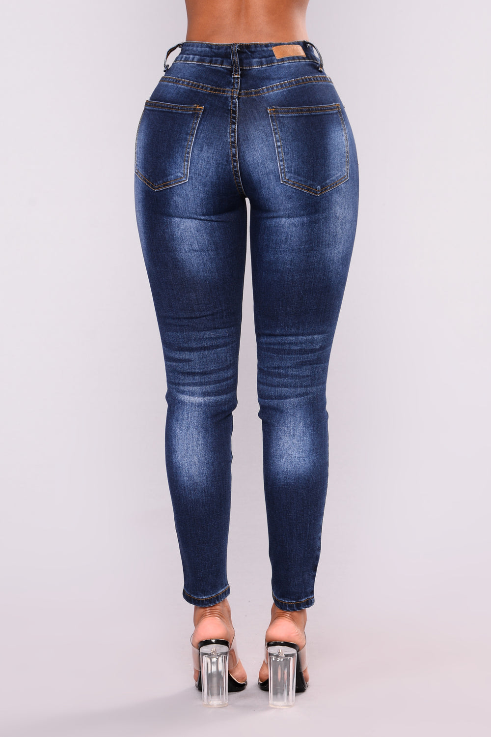 Young And Broke Ankle Jeans - Dark Denim