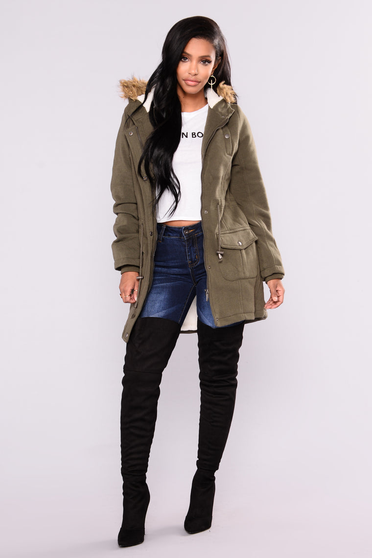 Some Kind Of Love Jacket  - Olive
