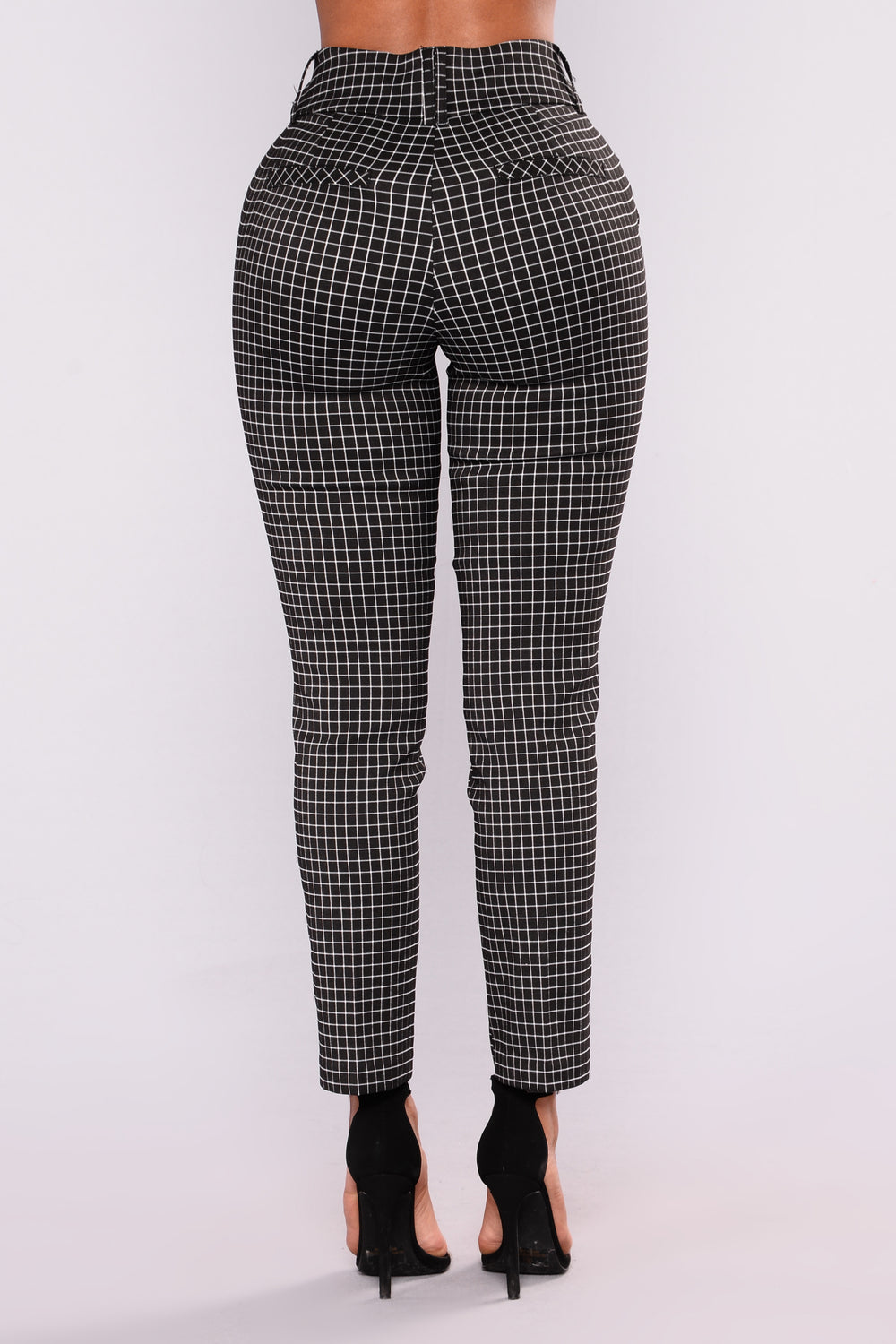 Jeanne Print Pants - Black/White