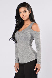 Zip Me Undone Top - White/Black
